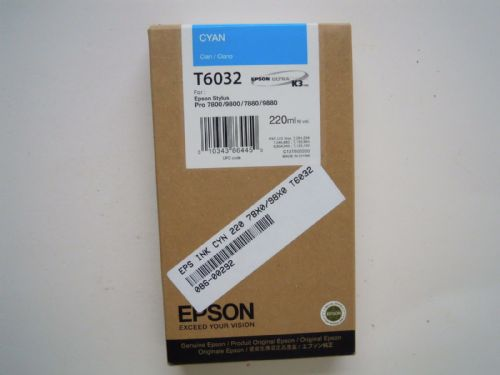 EPSON ULTRA CHROME K3 INK CARTRIDGE CYAN T6032 220ML